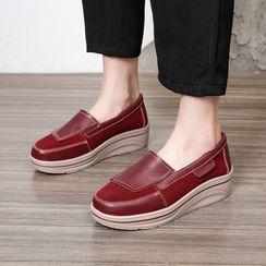 MINIKA - Genuine Leather Platform Slip Ons