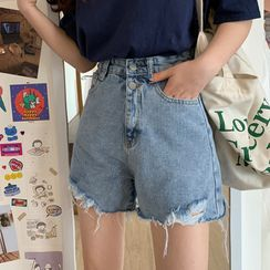 Closette - Distressed Denim Shorts