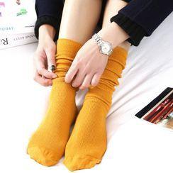 Hekki - Plain Ribbed Calf Socks
