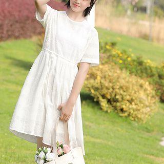 YICON - 短袖A字連衣裙