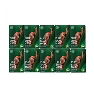 TOSOWOONG - Pure Snail Mask Pack 10pcs