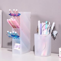 Eranso - Frosted Plastic Pen Holder