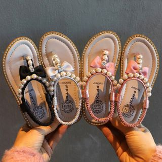 Cool Kid - Kids Faux Pearl Sandals