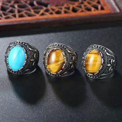 Andante - 复古宝石不锈钢戒指