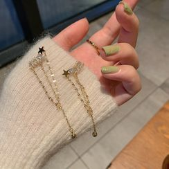 Calypso - Rhinestone Chained Dangle Earring