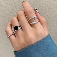 Diplet - Set of 3: Alloy Open Ring (assorted designs)