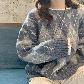 Apotheosis - Argyle Pattern Sweater