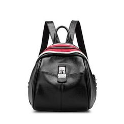 AIDO - Colour Block Genuine Leather Backpack