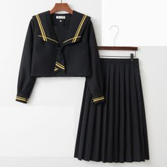 Aiyiruo - Sailor Collar School Uniform Costume