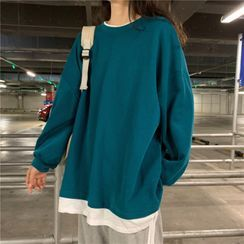 bloomingtide - Mock Two-Piece Sweatshirt