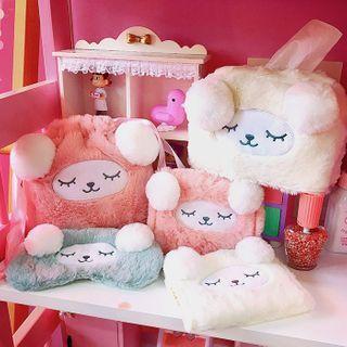 Yunikon - 毛毛动物月包小袋/纸巾盒套/抽绳小袋/眼罩