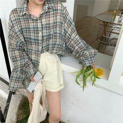 Chikee - 格子宽松衬衫