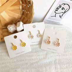 Kiksuya - Alloy Flower Dangle Earring