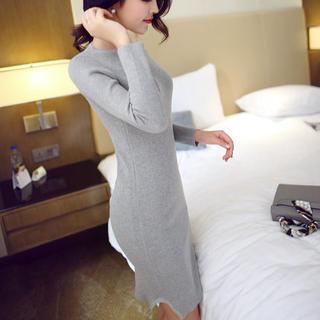 anzoveve - Ribbed Knit Dress