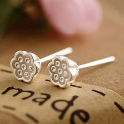 Wellhem - Lotus Seed Stud Earring
