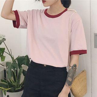 Moon City - Short-Sleeve Ringer T-Shirt