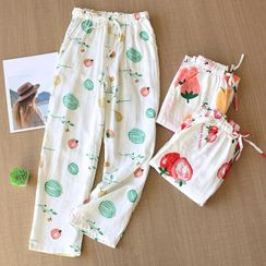 MelMount - Fruit Print Lounge Pants