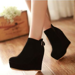 Freesia - Hidden Wedge Ankle Boots