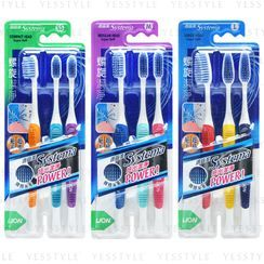 LION - Systema Super Soft Spiral Toothbrush 3 pcs - 3 Types