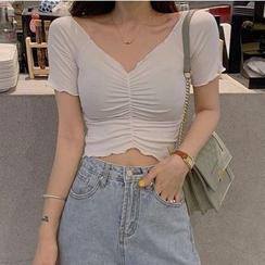 Dinse - Off-Shoulder Short-Sleeve Cropped Top