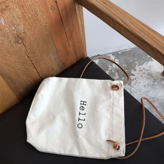 TangTangBags - Lettering Canvas Crossbody Bag