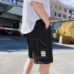Meiki - 飾縫線牛仔短褲
