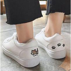 Satomi - Cartoon Canvas Sneakers ( without fur )