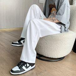 Diphon - 纯色直筒宽腿裤
