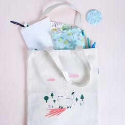 LIFE STORY - Illustrated Canvas Shopper Bag