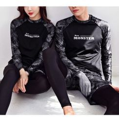 Summer Siren - Couple Matching Long-Sleeve Rashguard / Swim Shorts / Pants / Set