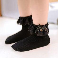 Knit a Bit(ニットアビット) - Kids Set of 3: Embellished Socks