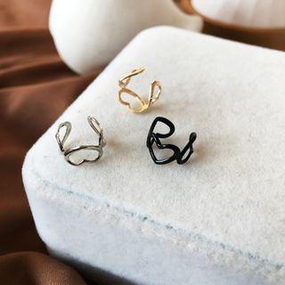 Jamfune - Heart Alloy Cuff Earring
