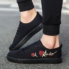 Chariot - 刺繡飾縫線休閒鞋