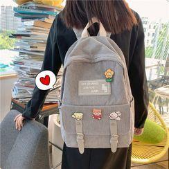 MUSA - Corduroy Buckled Backpack