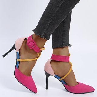 Avanti - 撞色高跟仿皮鞋