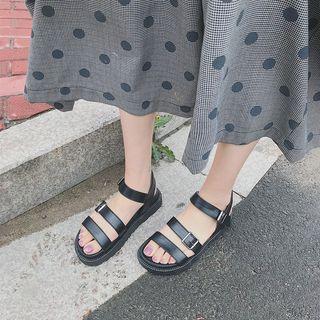 Rikko - Faux Leather Platform Sandals