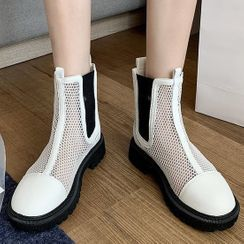 Weiya - 网纱短靴