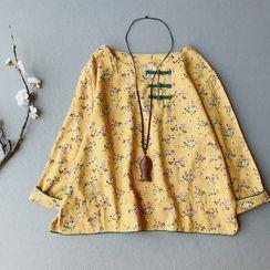 Vateddy - Floral Print Blouse