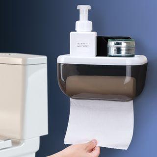 四季美 - 塑胶厕纸黏墙收纳架