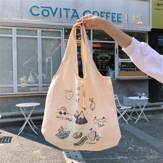 Eastin - Cartoon Canvas Tote Bag