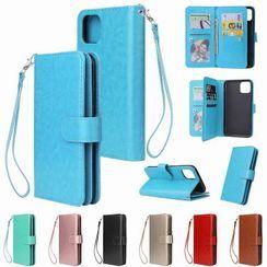 Angelme - Printed Flap Phone Case - Apple / Huawei / Mi / Samsung
