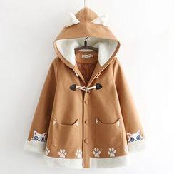 PANDAGO - Hooded Toggle Coat