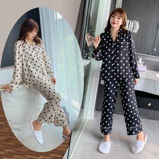 Tripoly - Pajama Set: Dotted Shirt + Lounge Pants