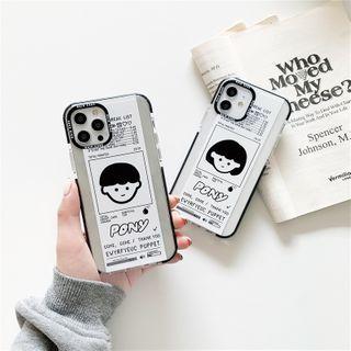 KeCase - Couple Matching Cartoon Print Transparent Phone Case - iPhone 12 Pro Max / 12 Pro / 12 / 12 mini / 11 Pro Max / 11 Pro / 11 / SE / XS Max / XS / XR / X / SE 2 / 8 / 8 Plus / 7 / 7 Plus