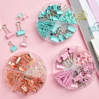 Hekki - Set: Metal Binder Clip + Push Pin + Paper Clip