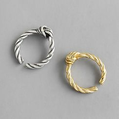 Phoenoa(フェノア) - 925 Sterling Silver Knot Open Ring