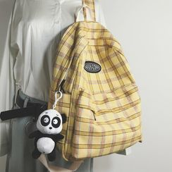 Hase Babe - Plaid Cotton Backpack