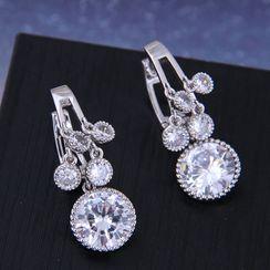 Bling Thing - Rhinestone Huggie Earring