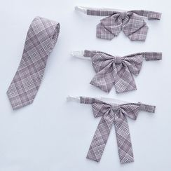 Candy House - 格子蝴蝶结领带 / 领带