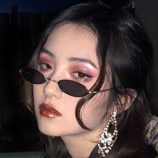 Aisyi - Ovale Retro-Brille mit Metallrahmen